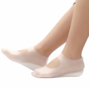 New Silicone Gel Foot Cover Insole Men Women Sole Height Increase Pad Invisible Heighten Socks Arch Support Heel Pads