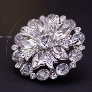 Flower rhinestone crystal shoes clip buckle beautiful shoes decorations for lady