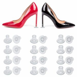 LJL-24 Pairs High Heel Protectors Clear Heel Stoppers for Wedding or Outdoor Events high heel protectors for walking on grass