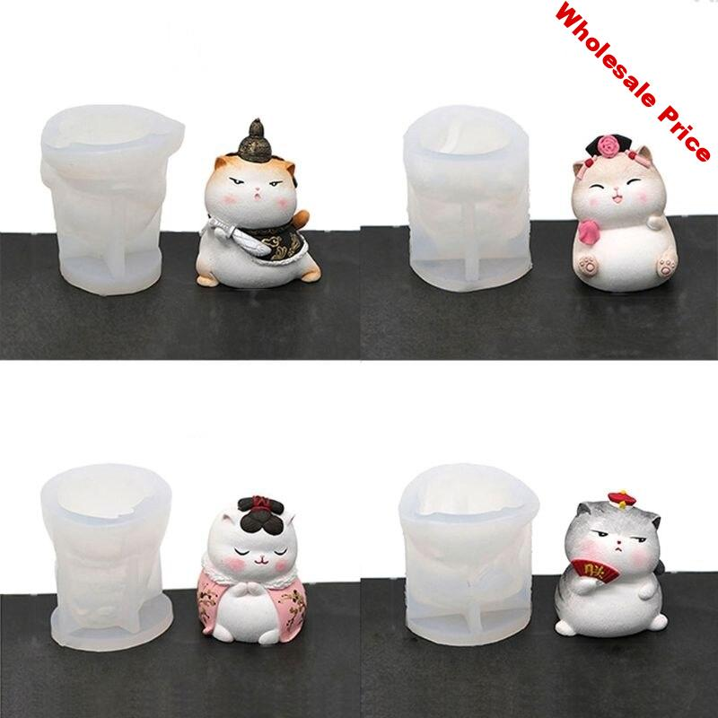Cute Royal Cat Resin Mold Silicone Mold Animal Fondant Cupcake Mold Jewerly Tool