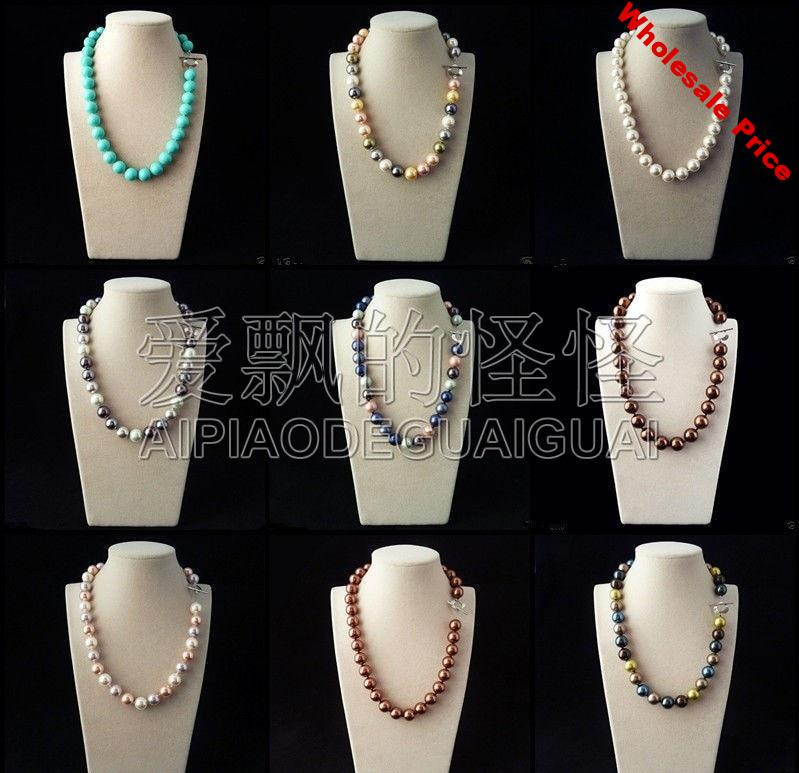 N051114 ON SALE Rare Huge 12mm Genuine South Sea Shell Pearl Round Beads Necklace 18''