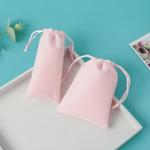 Jewelry Drawstring Velvet Bag Box Packaging Gift Pouches Earrings Ring Necklace Jewelry Candy Cotton Flannel Bag Can Custom
