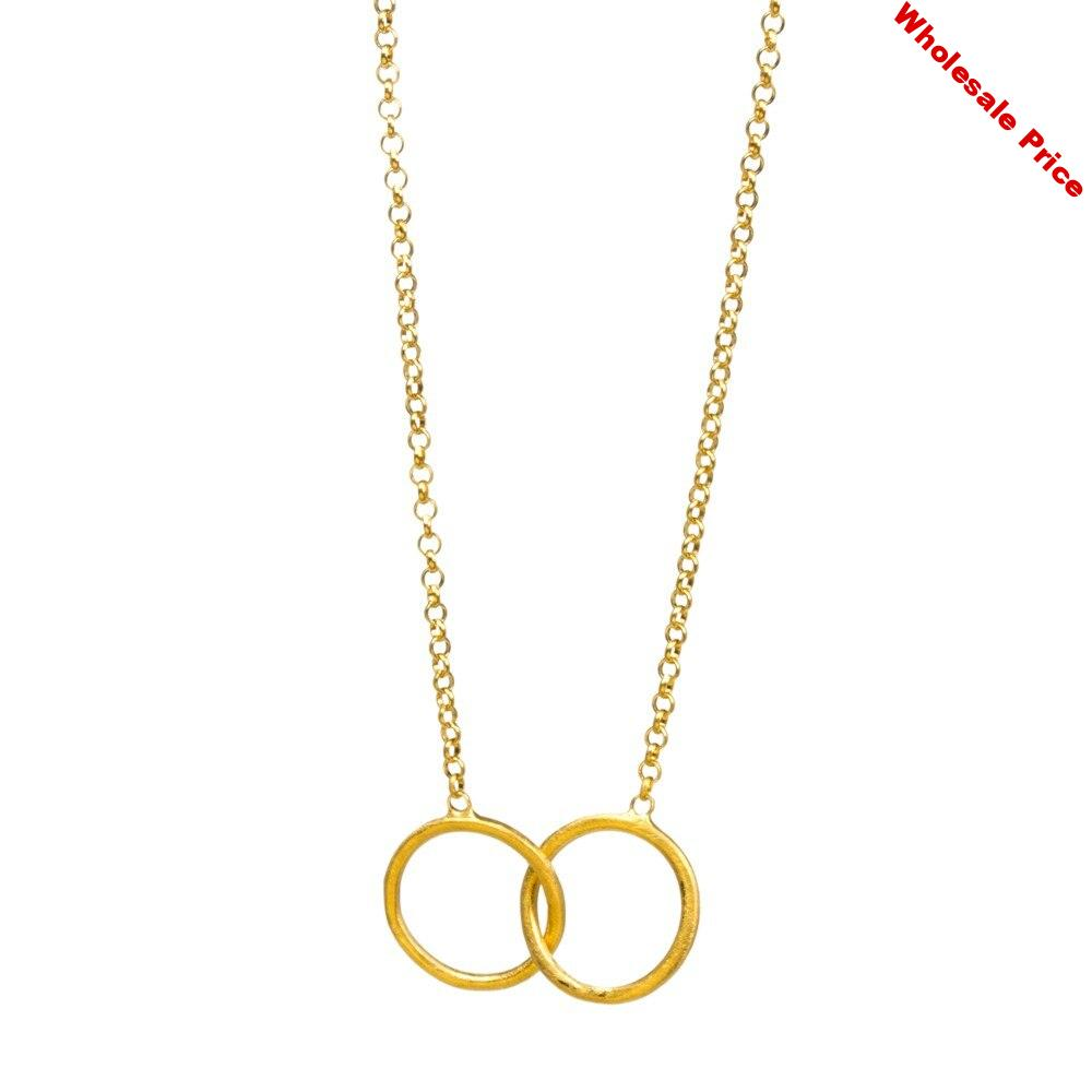 DI-347 Fashion Circle Clavicle Chain Necklace Women Pendant Necklace Choker Necklaces Valentine's Day Personality Gift