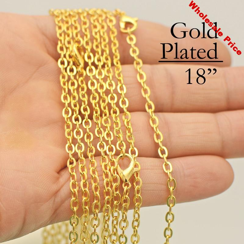 100 pcs - 18 Inch Gold Chain Necklace