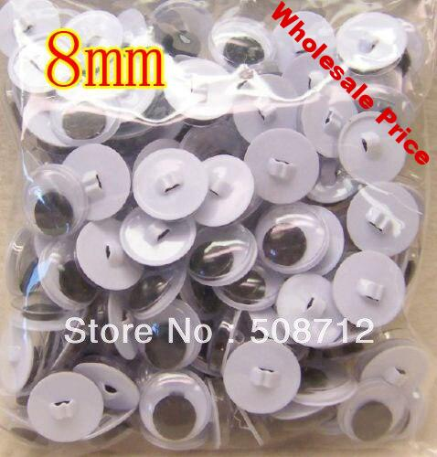 Free shipping!!!!200pairs Sew-On Wiggle Eyes for Bears & Dolls - 8mm