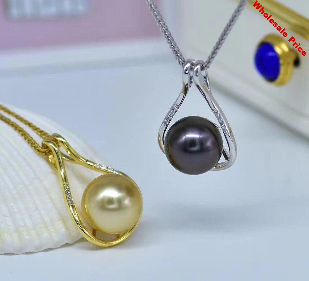 925 Sterling Silver Christmas Party Pearl Pendant Mounts Pendant Setting Findings Jewelry Parts Fittings Women Accessories