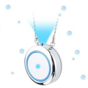 Wearable Air Purifier Necklace Mini Portable Air Freshner Ionizer Negative Ion Generator Low Noise For Adults Kids Daily Use