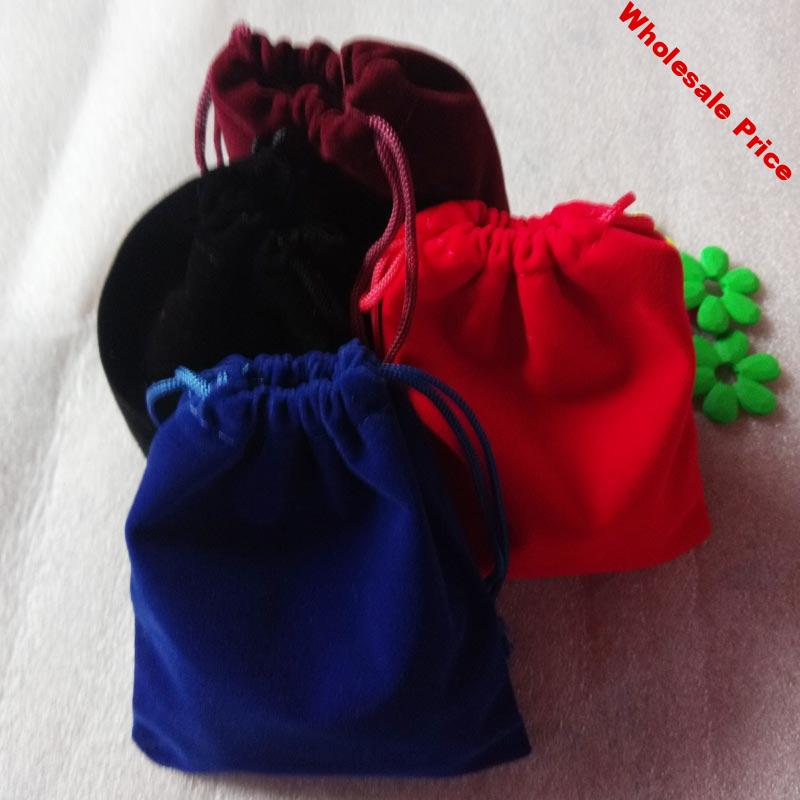 100pcs 10x12cm Jewelry Bags Pouch Velvet Bags Jewellery Pouches Gift Bag For Christmas/wedding Flannel Drawstring Packaging Bag
