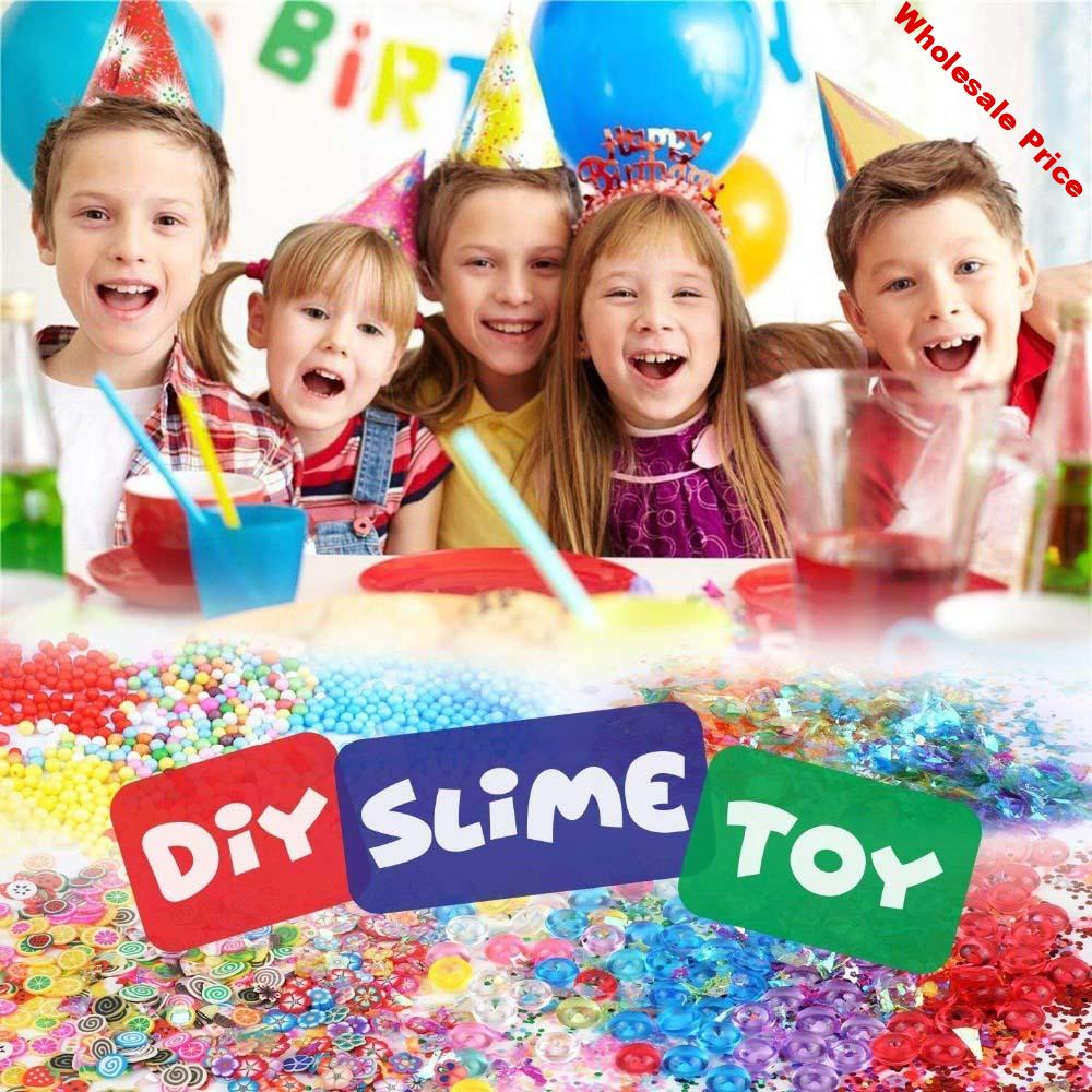 72/82 DIY For Slime Making Kit Colorful Foam Ball Granules Flat Beads Gold Powder Candy Paper Polymer Clay Set Children's DIY Ha