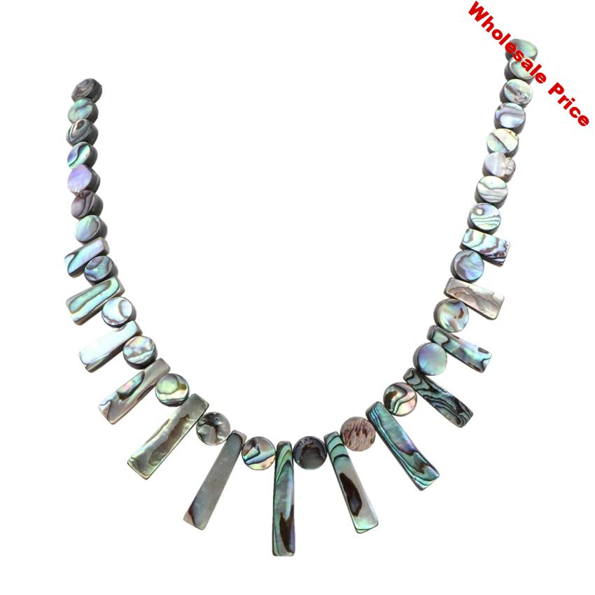 New Zealand Abalone Shell Pendant Necklace Beads Natural Gem Paua Shells Tassel Necklaces Women Reiki Short Chain Jewelry A983