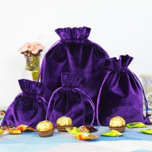 10pcs Drawstring Bags Velvet Pouch Candy Bags Storage Bag For Christmas & Wedding Party Jewelry Bags