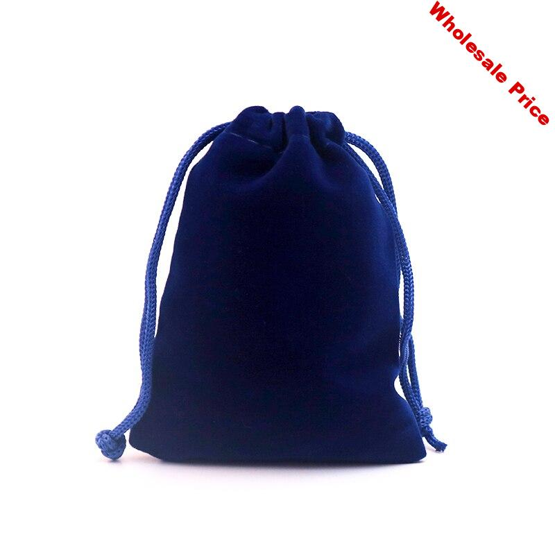 100pcs 8x10cm jewelry bags pouch velvet bags jewellery pouches gift bag for christmas/wedding Flannel Drawstring packaging bag