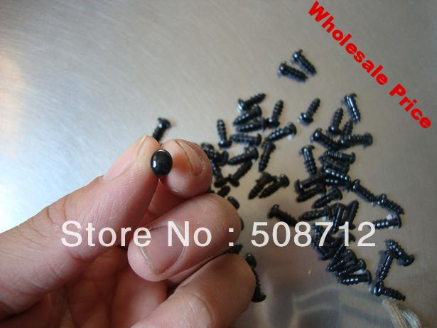 fress ship!!!300pcs/lot DIY stuffed toy findings 5x6mm Black plastic oval eyes/ safety eyes with back