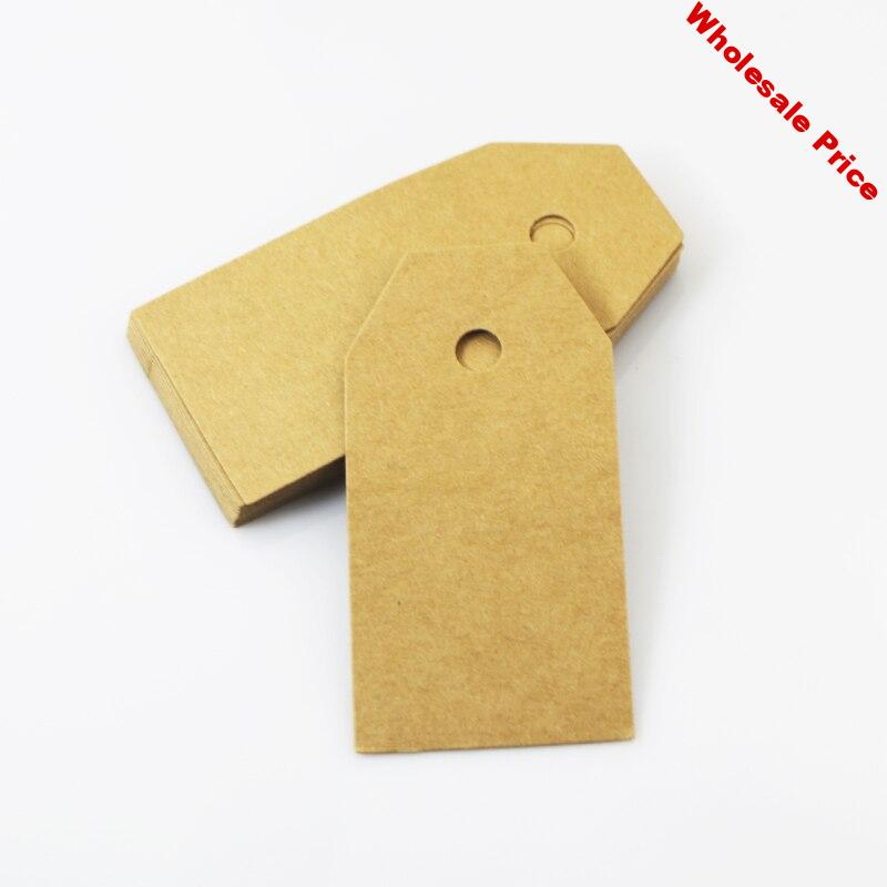 200pcs 4.5x9cm stock kraft tag Blank price Hang tag DIY kraft paper tag Favor Gift Tags Wedding Party Favour Supply Gift Cards
