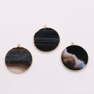 30mm roundel natural stone slabs penant for jewelry accessories like necklace and earring factory price free shipping