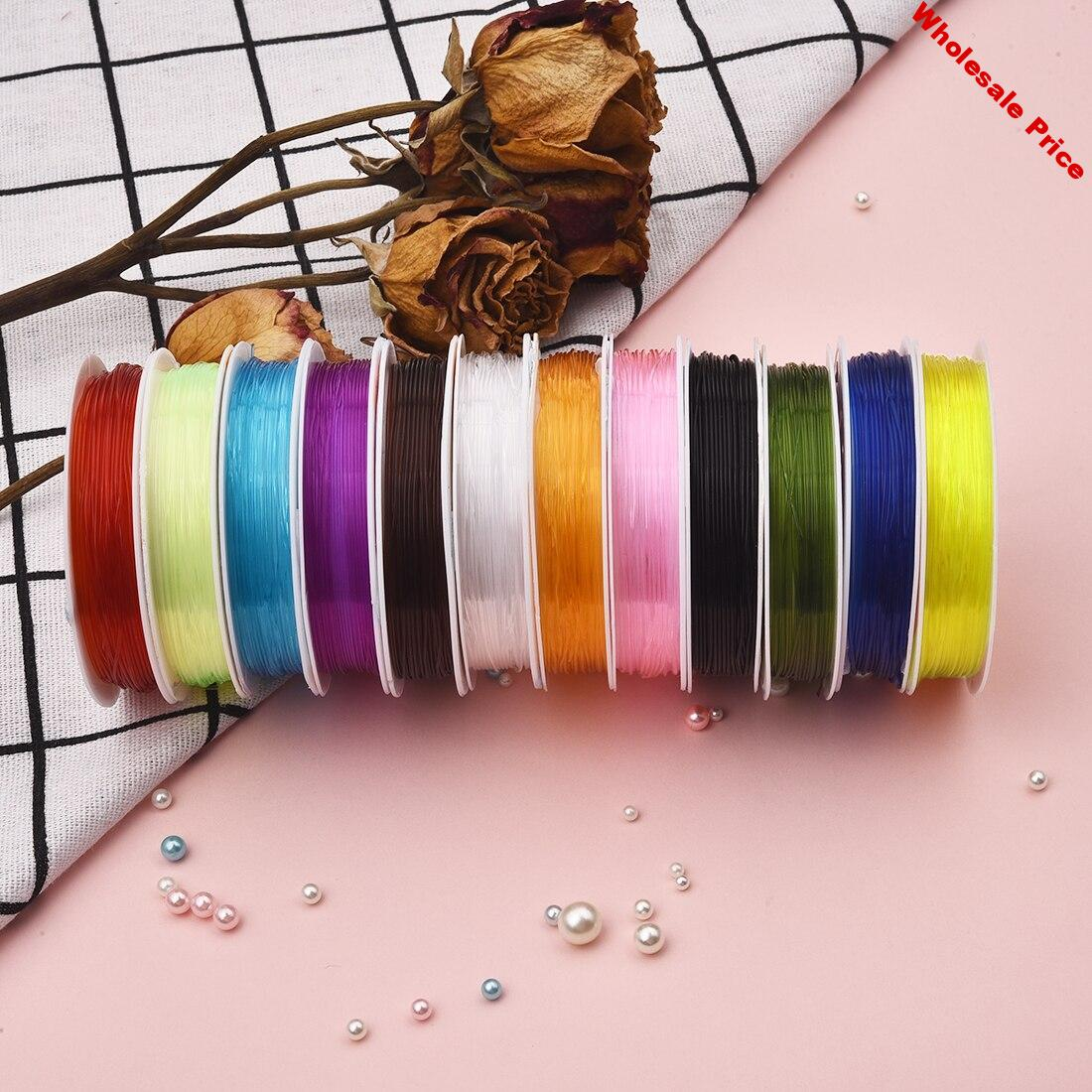 12 Rolls 0.8/1mm Elastic Crystal Cord Rope  Beading Thread  String Wire For DIY Jewelry Making Beads Bracelet Necklace