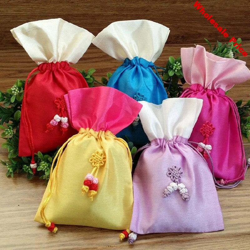 "10pcs Silk Jewelry Gift Bag 10x15cm(4""x6"") Birthday Party Wedding Favor Holder Neckalce Bracelet Bangle Jewelry Packaging Pouch"