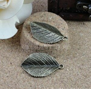 (A1003)35*20mm simple leaf Fashion Jewelry Findings