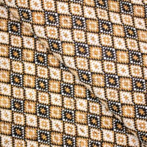 From Portugal Cork fabric ETHNIC Pattern Natural vegan fabric Cork Textile COF-195