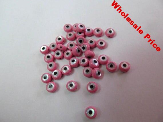 pink red MOP Shell mother of pearl Clove cross hamsa Round Coin Turquoise blue evil eyes black White pink oranger spacer beads 2