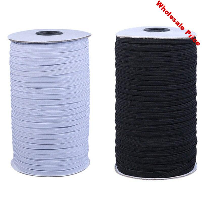 Doreen Box Polypropylene Fiber Elastic Cord For DIY Mouth Mask Craft Sewing Supplies White Black Color Cords 3mm