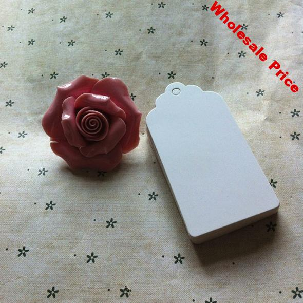 9 * 4.5 cm White blank cardboard tags kraft paper tags jewelry price tags card tags with Hemp rope 500 pcs/lot