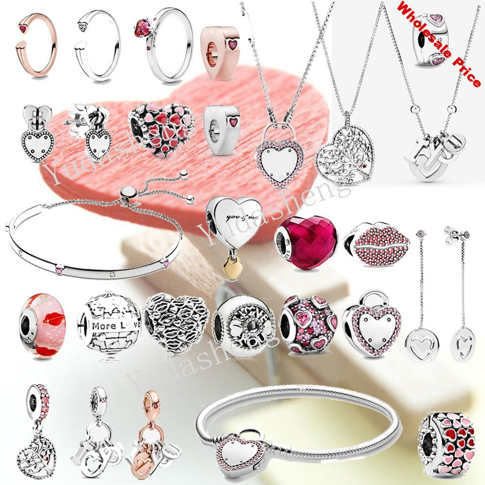 Valentine's Day Lips Club Talk About Love Charm Love & Kisses Bead I Love You Letters Dangle Charm Fit  Charm Bracelet