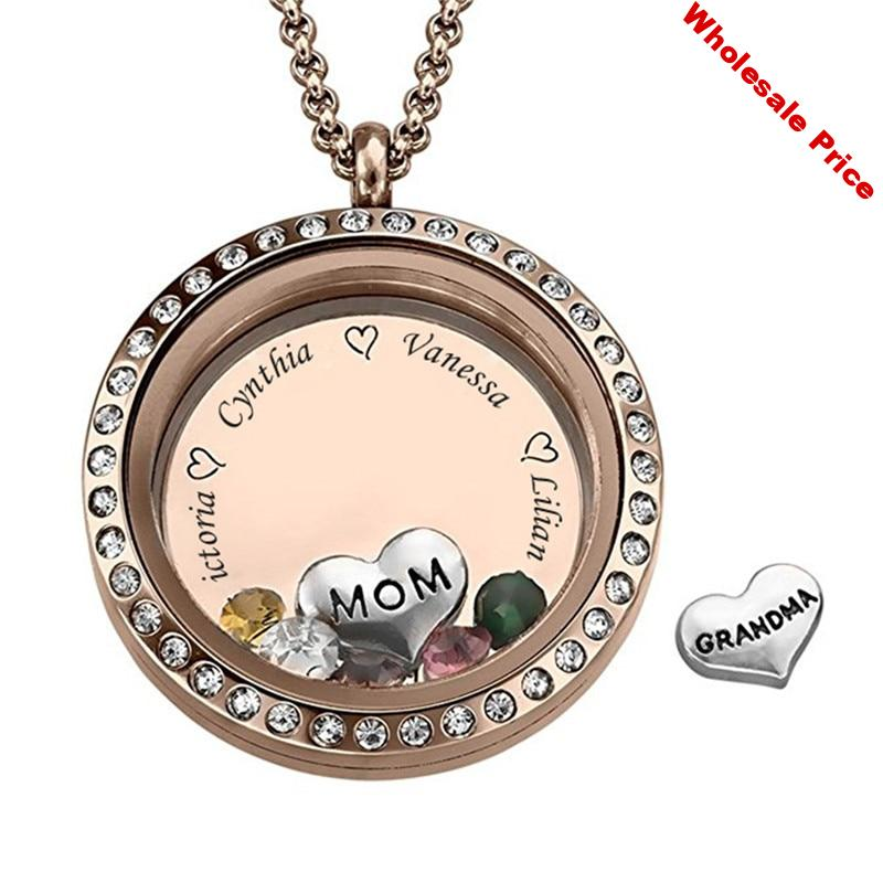 Personalized Name Necklace Birthstone Family Tree Custom Name Pendant Necklace Women Jewelry for Family Mother's Day gift Bijoux