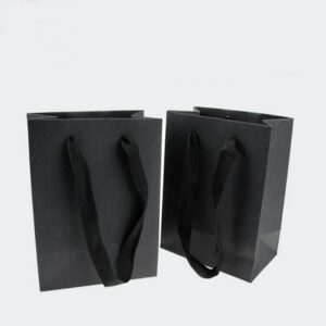 New 20pcs  box bag 11.5X7X15.5CM black Kraft paper bag For earring/necklace jewelry/christmas/wedding jewelry bag A88
