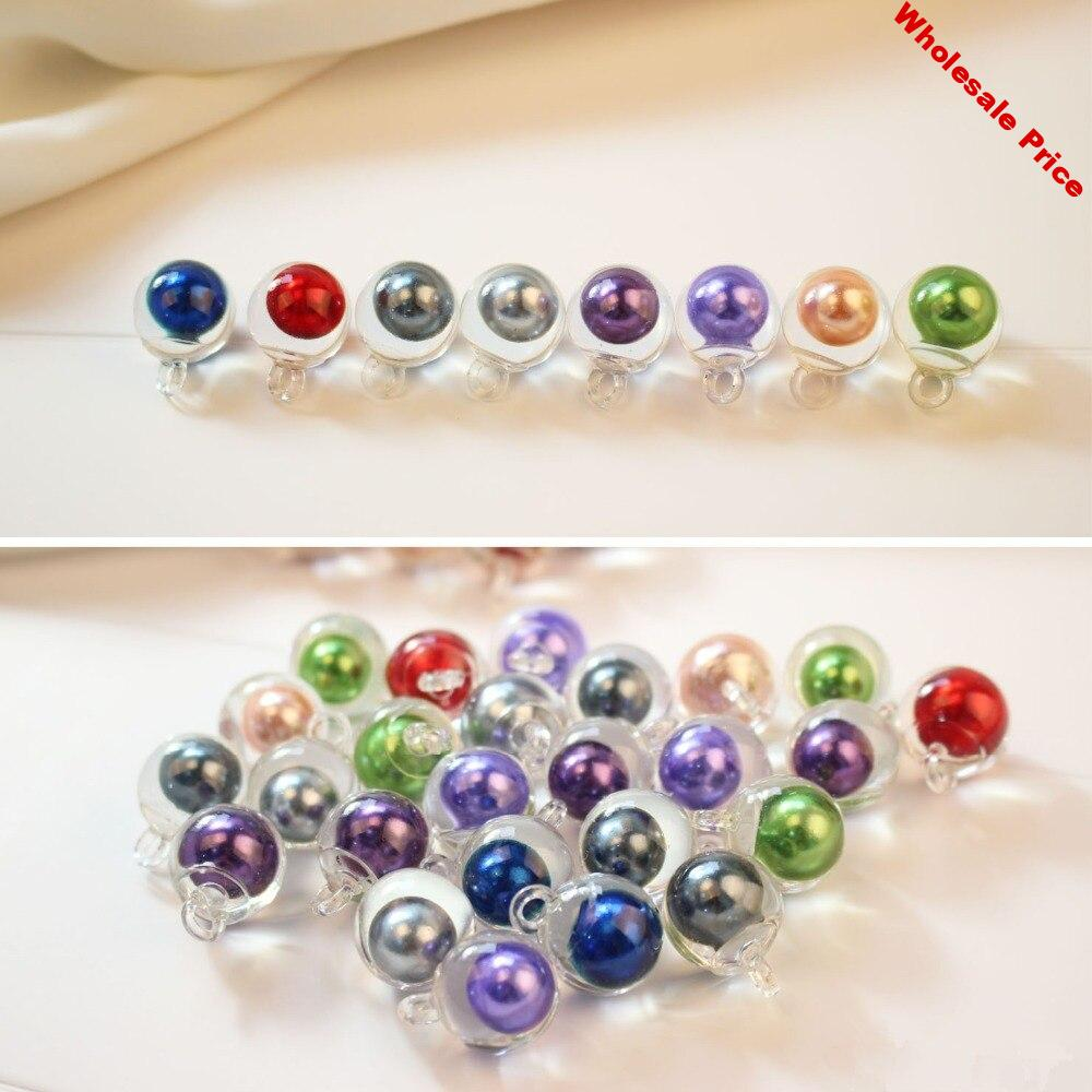 New arrived 30pcs/lot 17mm color beads core decoration geometry round transparent resin balls beads diy jewelry earring pendants