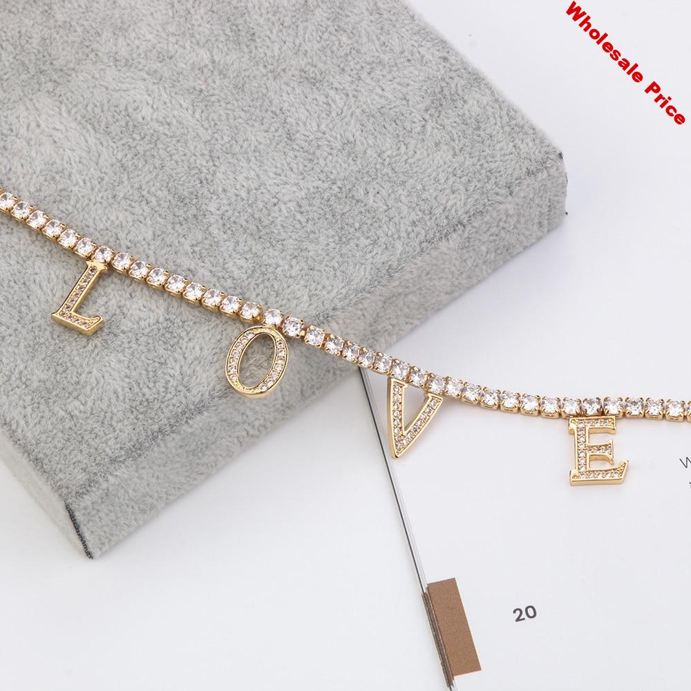 Lateefah CZ Necklace Personality Name Necklace