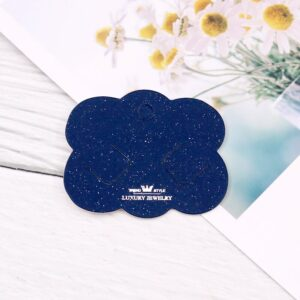 Headwear Accessory Packaging Display Cardboard 5*6cm Blue Crown Paper Hair Jewelry Hair Clip Cards for Hairpin Ornament Package