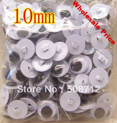 Free shipping!!!!200pairs Sew-On Wiggle Eyes for Bears & Dolls - 10mm