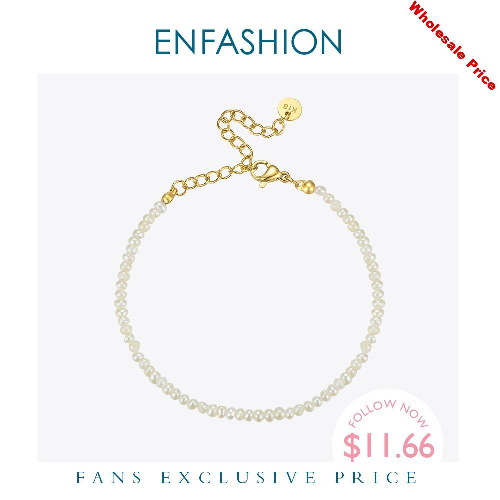 ENFASHION Natural Irregular Pearl Bracelets For Women Gold Color Cute Armband Bangles Fashion Jewelry 2020 Friends Gifts B2161