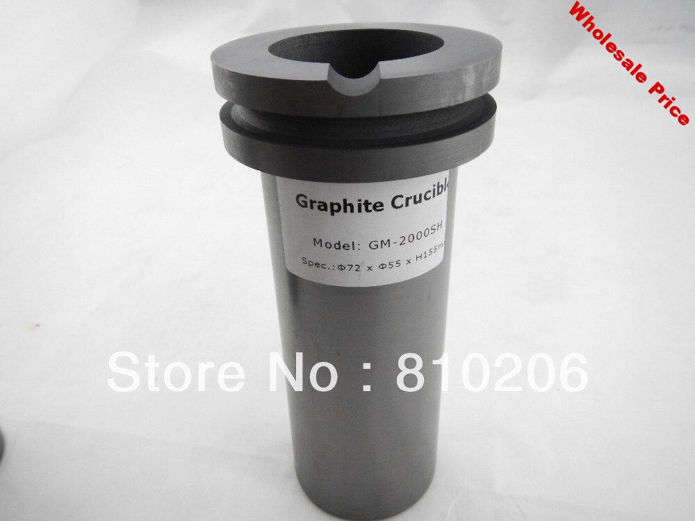 2kg Graphite Crucible for gold silver metal water pot cup Crucible jewelry tool