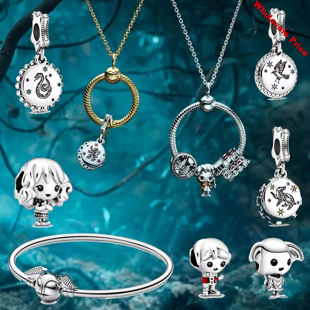 School of Witchcraft and Wizardry Charm Express Train Bead the House Elf Fit DIY Charm Bracelet
