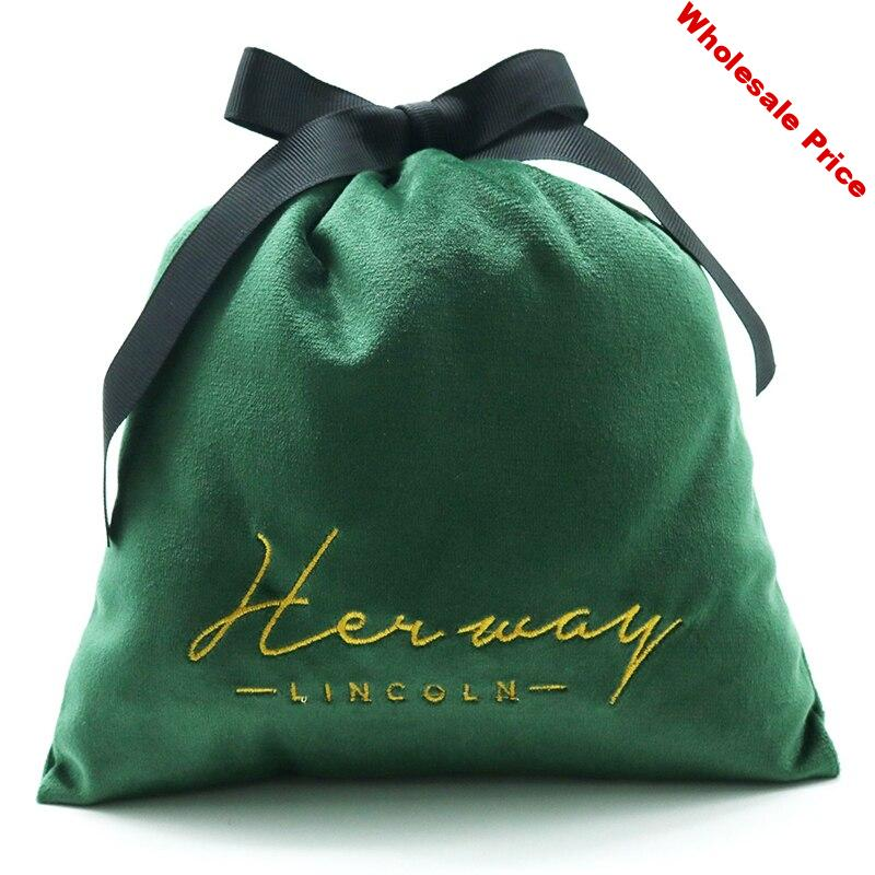 Exquisite gift bag Tiffany- blue velvet bag soft flannel drawstring storage bag high-end jewelry storage bag custom logo