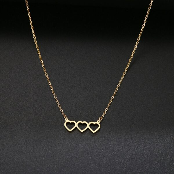 CH-464 Heart Necklace For Women Fashion Stainless Steel Jewelry 2020 Charming Gifts For Best Friends Trendy Pendant Choker