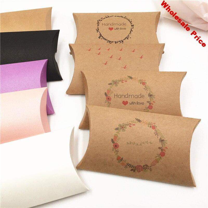 100Pcs Colorful Kraft Paper Candy Box Gifts Jewelry Packaging Boxes Wedding Favor Gift Baby Shower Favors Party Paper Box