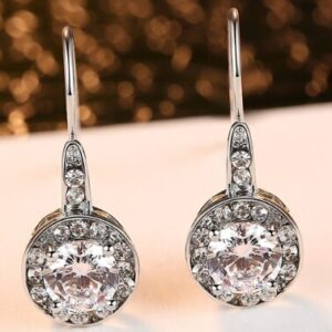 VCC10      925 pure silver ear nail whole body silver allergy proof Zircon Earrings female Earrings