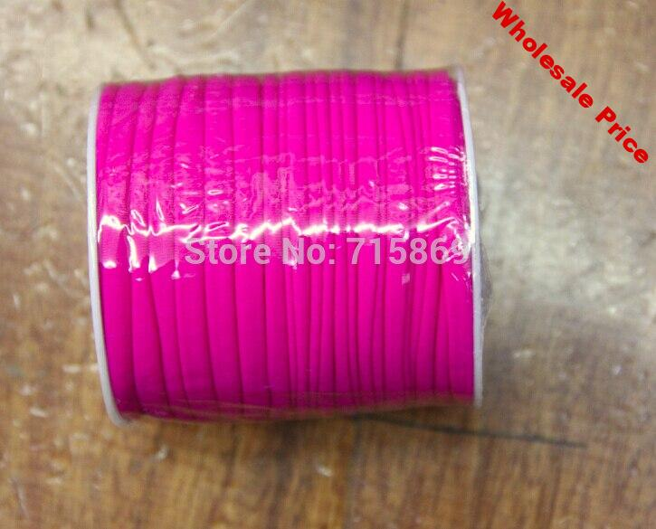 Free Ship 5mm 20meter / Row Rose Elastic lycra cord Stitched round lycra cord Lycra strip For Jewelry Marking