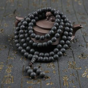 6mm/8mm/10mm/12mm Natural Polished Ebony Wood Beads Ebony Mala Beads Black Ebony Wooden Mala Beads
