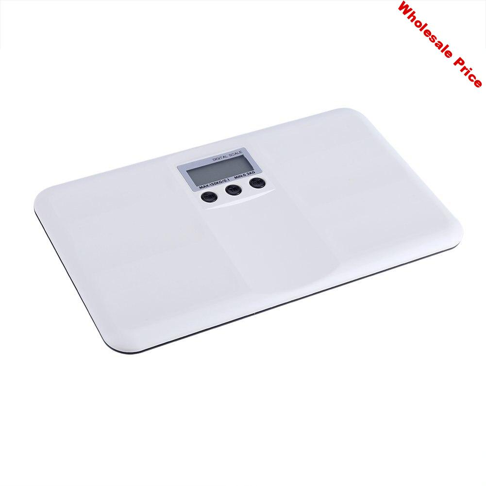 White weight scale plastic body scale mother baby electronic scale portable plastic fall proof electronic scale