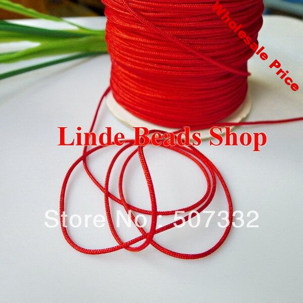free shipping  1.5mm thread cord rope red Waxed Beading Cord fit bracelet&necklace string 160meter TL004