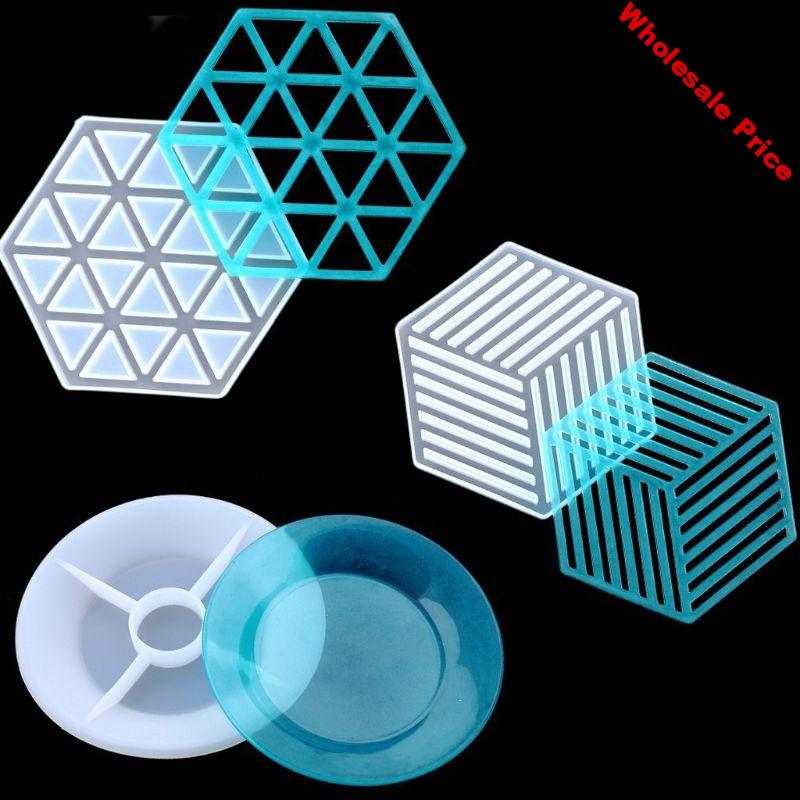 3Pcs Resin Molds Silicone Casting Molds Coaster Silicone Molds Resin Epoxy Resin Casting Art Molds DIY Cup Mat Molds