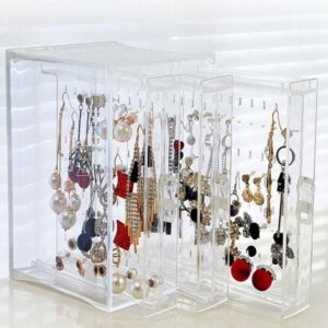 Mordoa New Fasion PS Material Jewelry Display Holds Up Earrings Earring Holder And Jewelry Organizer Earring Showcase Stand Box