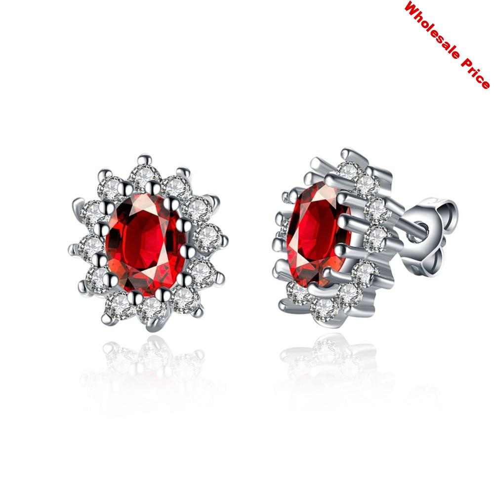 V1100 Fashion earring For Women Party Elegant Luxury Bridal Jewelry 925 Sterling Silver Wedding Engagement Ring High Quality