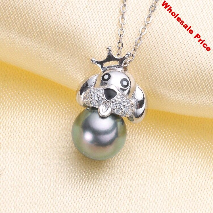 NEW 925 Sterling Silver Christmas Party Pearl Pendant Mounts Pendant Setting Findings Jewelry Parts Fittings Women Accessories