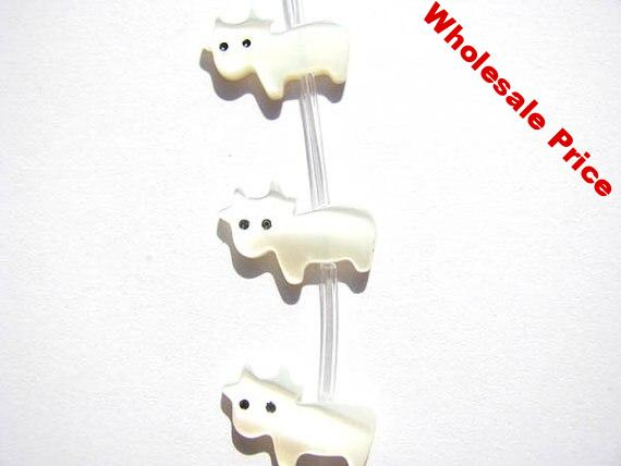 Crown shell bead 2strands 9-14mm Genuine MOP Shell