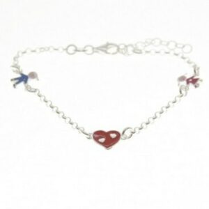 Silver and enamel bracelet